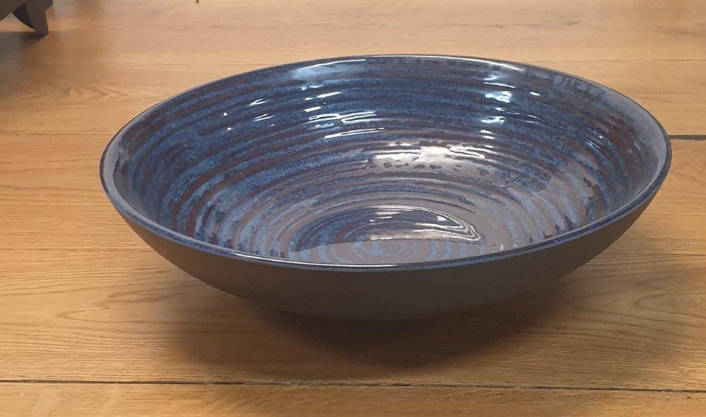 """קערה מלמין 31.2 ס""""מ כחול דגם קורל"""