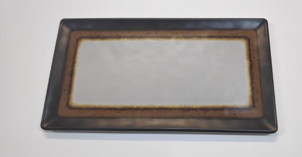 פלטה שטוחה מלמין 1/1 (53X32.5) שמנת דגם ארבל