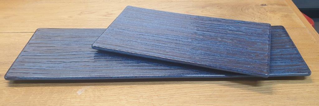 פלטה מלמין 1/3 17.6X32.5 כחולה דגם קורל