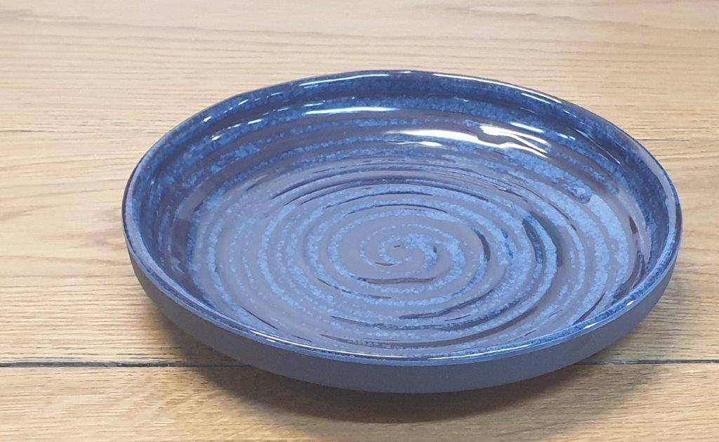 """סלטיה מלמין נמוכה 18 ס""""מ כחולה דגם קורל"""