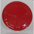 """צלחת מלמין 23 ס""""מ אדומה מחולקת ל3 דגם..."""