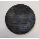 """צלחת מלמין שחורה עגולה 27 ס""""מ דגם מירית"""