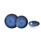 """צלחת 22 ס""""מ מלמין כחול דגם"""