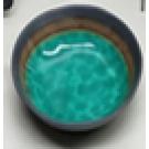 """קערה לבופה 28 ס""""מ ירוק עם פס שחור דגם נועם"""