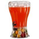 דיספנסר שתיה עם ברז ומתקן לקרח פוליקרבונט 13 ליטר