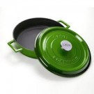 """סוטאז' יציקה ברזל 28 ס""""מ 3.4 ליטר ירוק"""